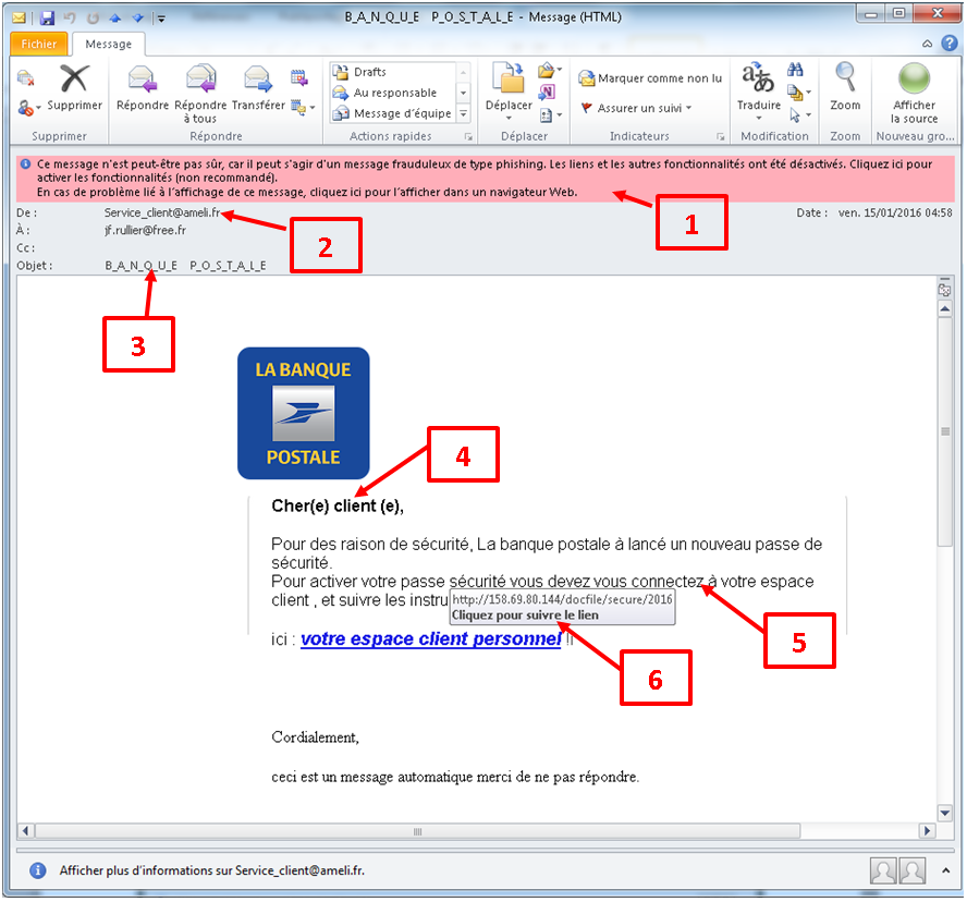 Email banque postale 2